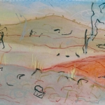 flatlands - pastel & conte on A4 cartridge paper