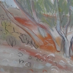 ghostgums pastel & conte on A4 cartridge paper