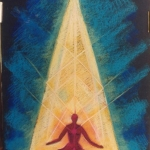 high connection during meditation, pastel 1993