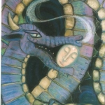 Portrait of Catherine Ross - in the mouth of the Dragon - pastel