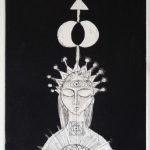 Meditation - limited edition intaglio etching 2001