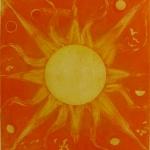 Sun disk - intaglio etching 2003