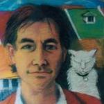 Martin Gorrick & Friend - pastel on paper