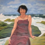 Denise at Clovelly (2008) oil/canvas