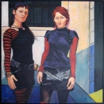 Mary and Monika Lee oil/canvas (2005)