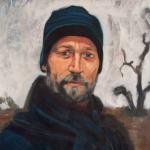 Peter Sharp at Cawndilla Lake oil/canvas (2006)