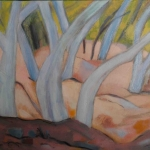 ghost gums in the dry river bed-oil/canvas 46x61cm