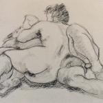 Tim and Ina charcoal study