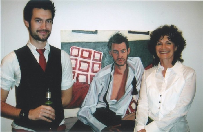 Janis with James Browne and the portrait at the opening night of the Doug Moran National Portrait Prize 2007